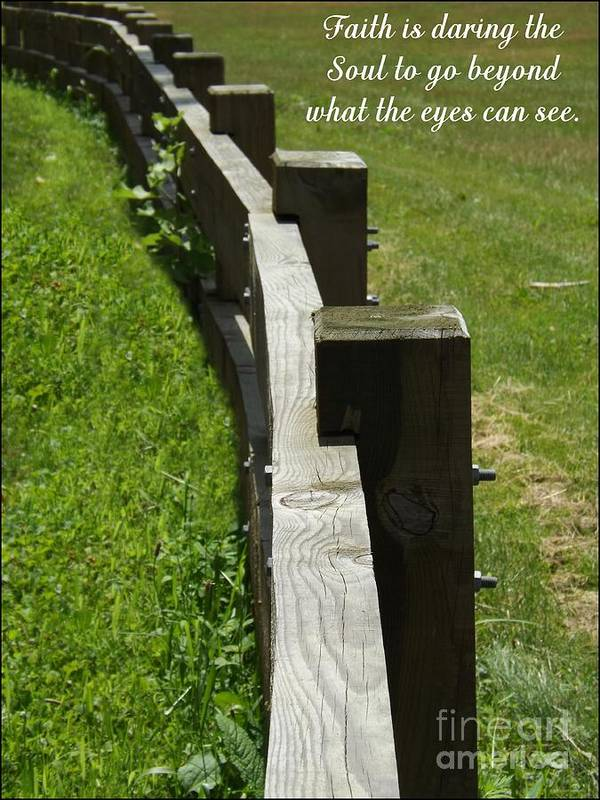 Fence Poster featuring the photograph Daring The Soul by Sara Raber