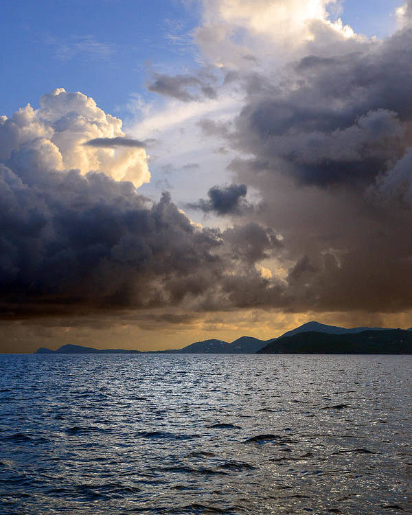 Clouds Poster featuring the photograph Dark And Stormy by  Michael Glenn