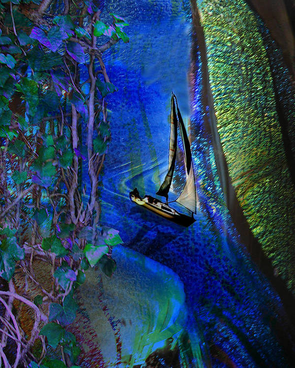 Dark River Poster featuring the digital art Dark River by Lisa Yount