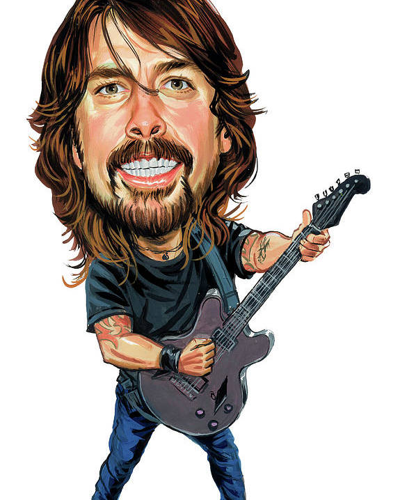 Dave Grohl Poster featuring the painting Dave Grohl by Art