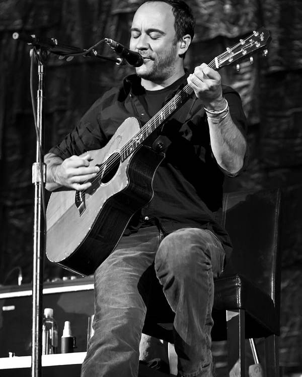 Dave Matthews Poster featuring the photograph Dave Matthews On Guitar 9 by Jennifer Rondinelli Reilly - Fine Art Photography