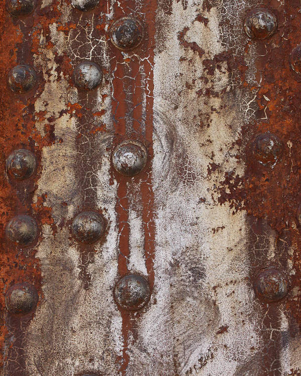 Abstract Photographs Poster featuring the photograph Davenport Railroad Bridge Beam II by Heidi Brandt