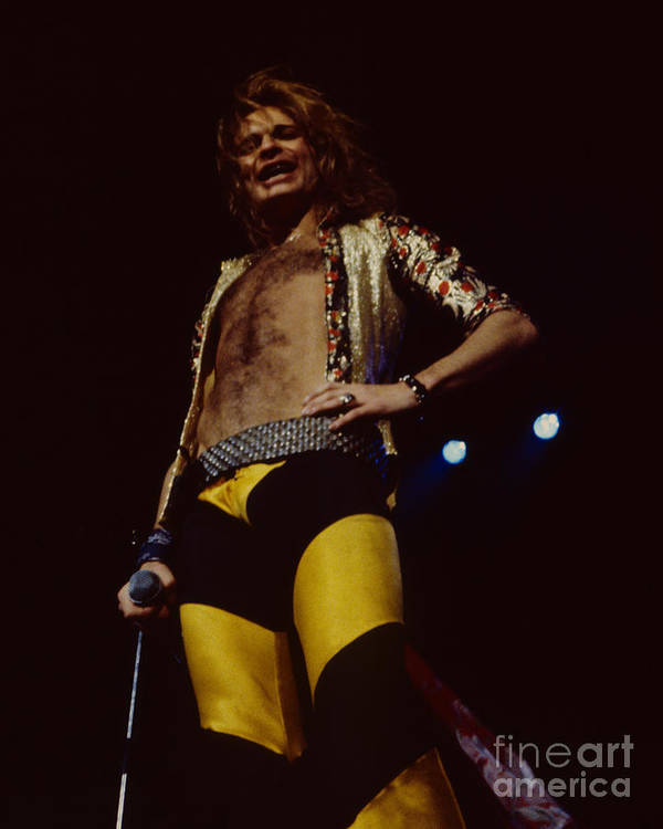a49f5b5b018 Van Halen Poster featuring the photograph David Lee Roth - Van Halen At The Oakland  Coliseum