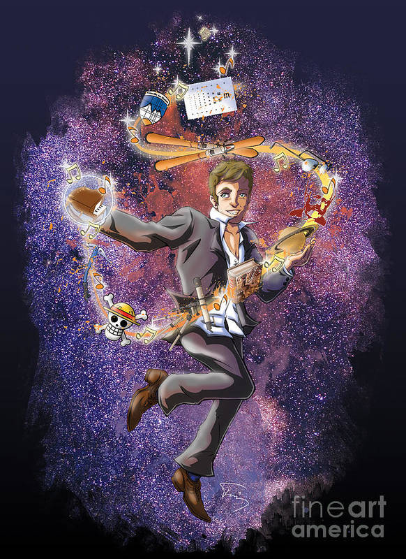 Space Poster featuring the drawing David T. by Tuan HollaBack