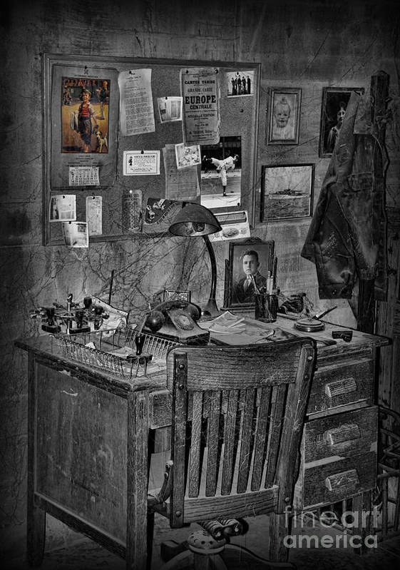 Office Desk Poster featuring the photograph Dead-end Job by Lee Dos Santos