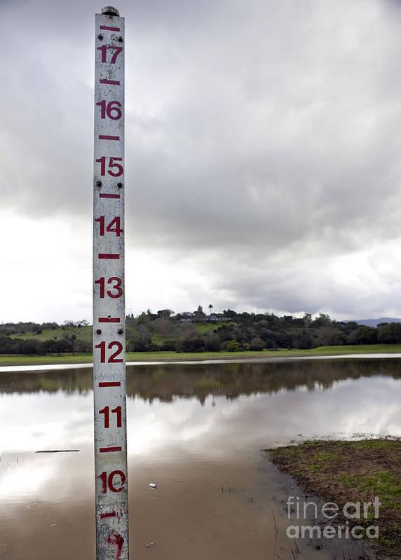 Depth Measuring Stick Lake Lagunita Stanford University Poster