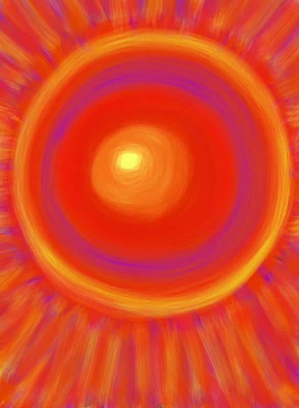 Sun Poster featuring the painting Desert Sunburst by Daina White