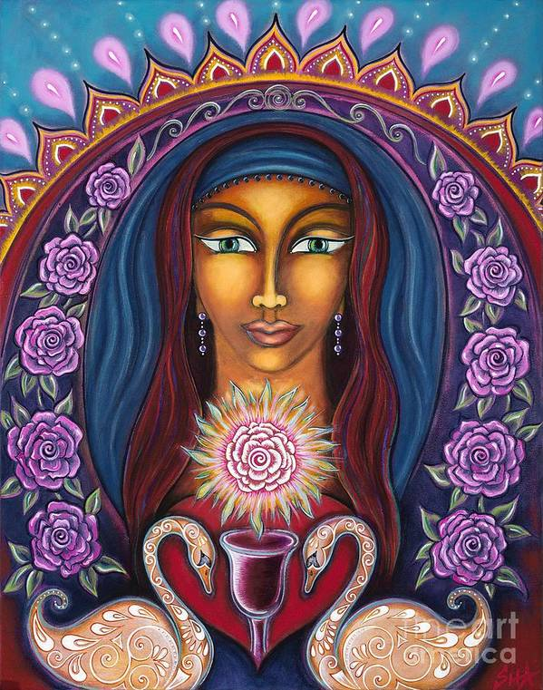 Artist Sharron Cuthbertson Poster featuring the painting Devotion To Truth by Sharron Cuthbertson