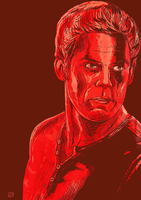Dexter Poster featuring the drawing Dexter by Giuseppe Cristiano