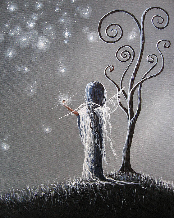 Fairy Art Poster featuring the painting Diamond Fairy By Shawna Erback by Shawna Erback