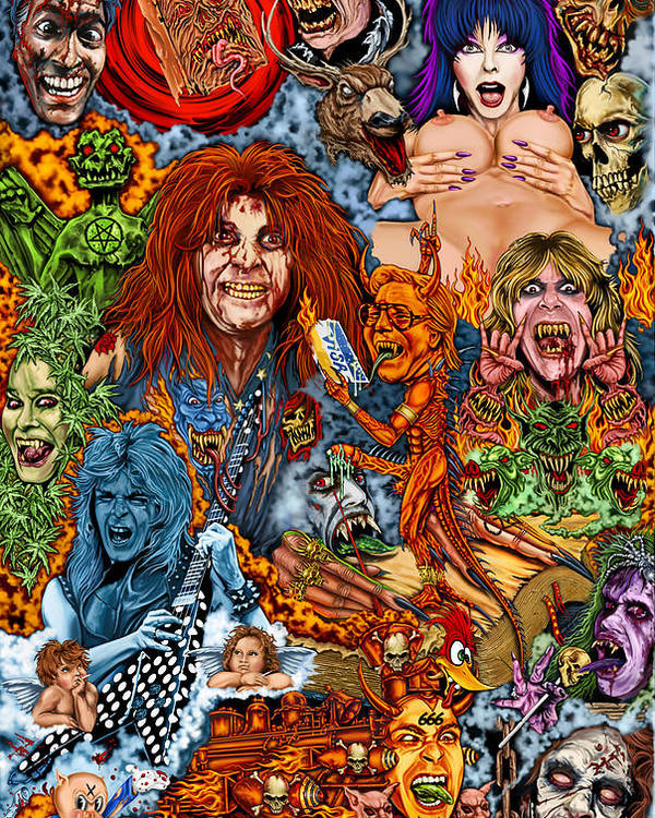 Ozzy Osbourne Art Poster featuring the painting Diary Of Demons Dementia And Dirty Women by Timothy Phillips