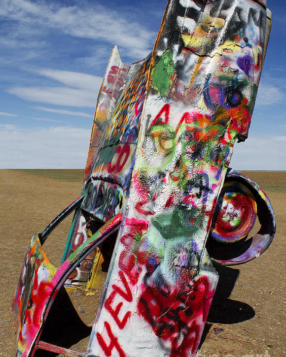 Cadillac Ranch Poster featuring the photograph Did Not Notice The Stop Sign by Elena Nosyreva