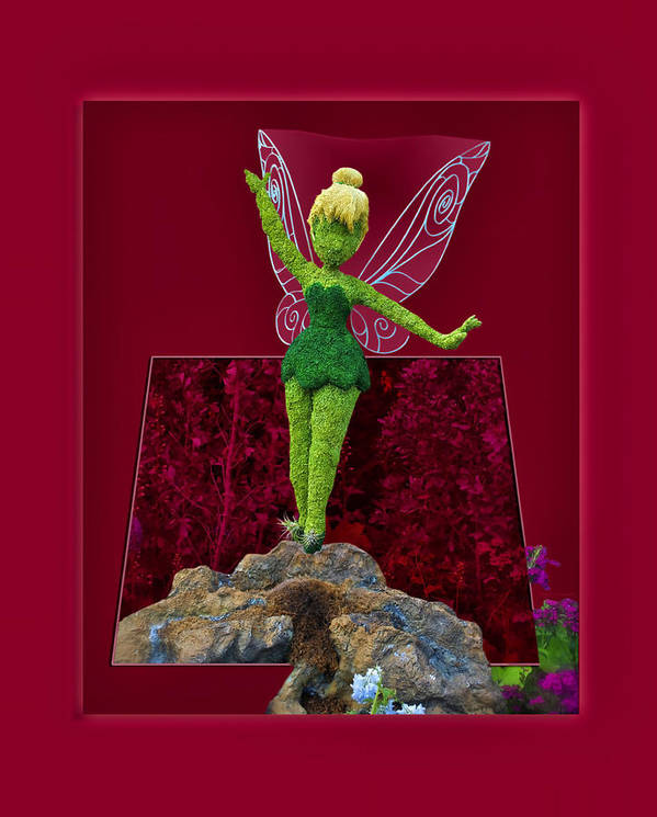 Tinker Bell Poster featuring the photograph Disney Floral Tinker Bell 01 by Thomas Woolworth