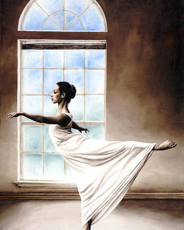 Dance Poster featuring the painting Divine Grace by Richard Young