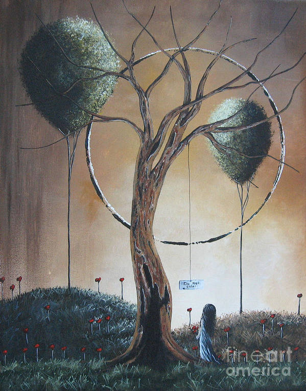 Dead Trees Poster featuring the painting Do Not Enter By Shawna Erback by Shawna Erback