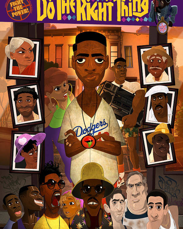Spike Lee Poster featuring the digital art Do The Right Thing by Nelson Dedos Garcia