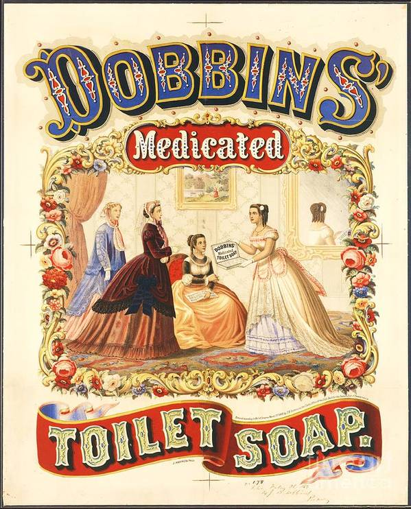 Art Deco Poster featuring the painting Dobbin's Toilet Soap by Pg Reproductions