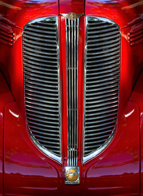 Dodge Brothers Poster featuring the photograph Dodge Brothers Grille by Jill Reger