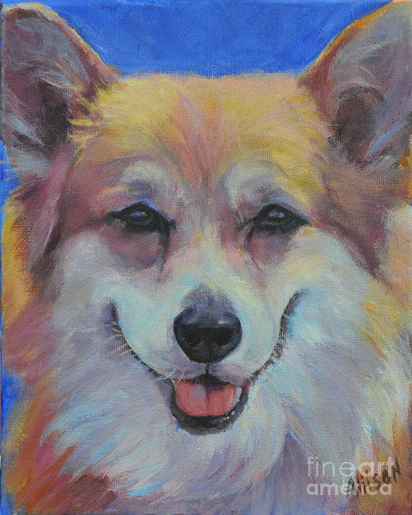 Pet Poster featuring the painting Dog Days of Summer 3 by Stephanie Allison