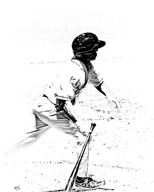 Baseball Poster featuring the photograph Doing It by Karol Livote