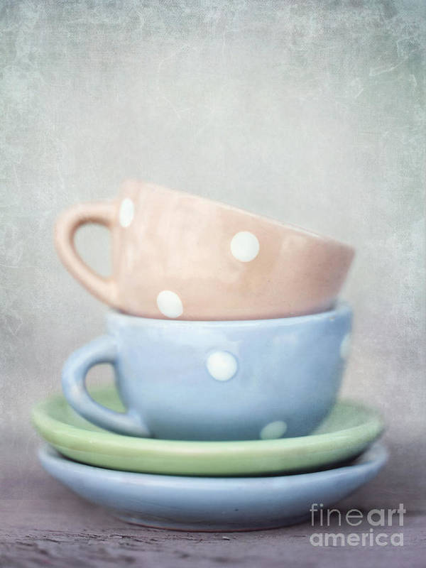 Cup Poster featuring the photograph Dolls China by Priska Wettstein