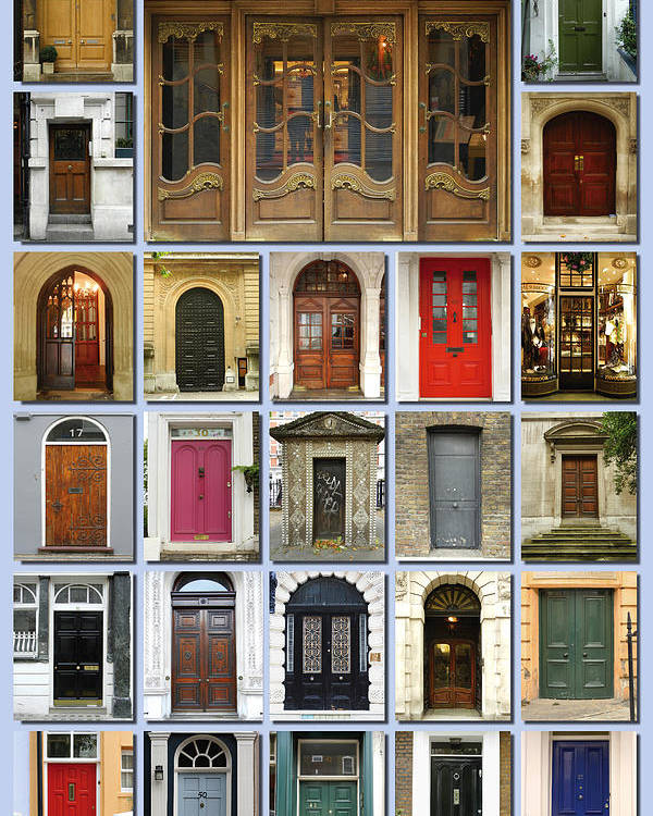 London Poster featuring the photograph Doors Of London by Heidi Hermes & Doors Of London Poster by Heidi Hermes