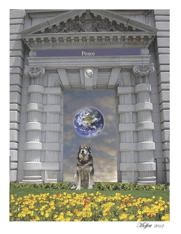 Clouds Poster featuring the mixed media Doorway 42 by Karma Moffett