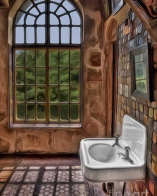 Byzantine Poster featuring the photograph Dormer And Bathroom by Susan Candelario