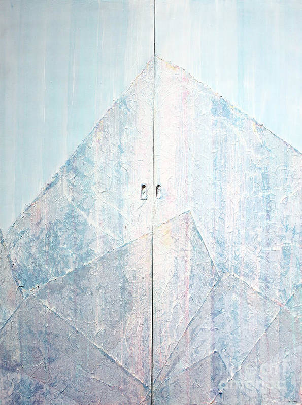 Abstract Painting Poster featuring the sculpture Double Doors To Peaceful Mountain by Asha Carolyn Young