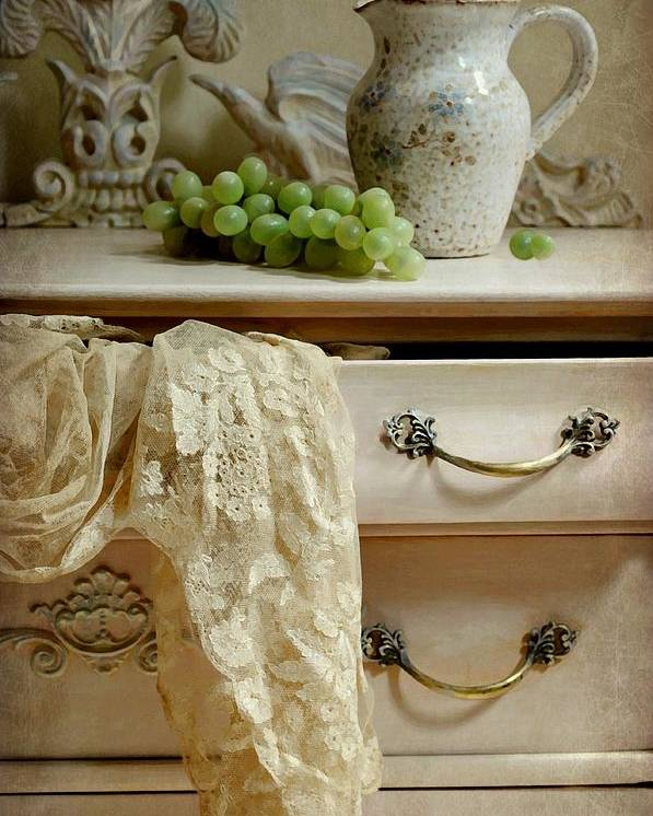 Still Life Poster featuring the photograph Drawer Of Lace by Diana Angstadt