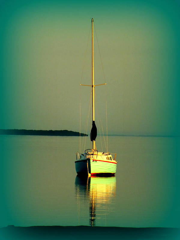 Boats Poster featuring the photograph Dream Bay by Karen Wiles