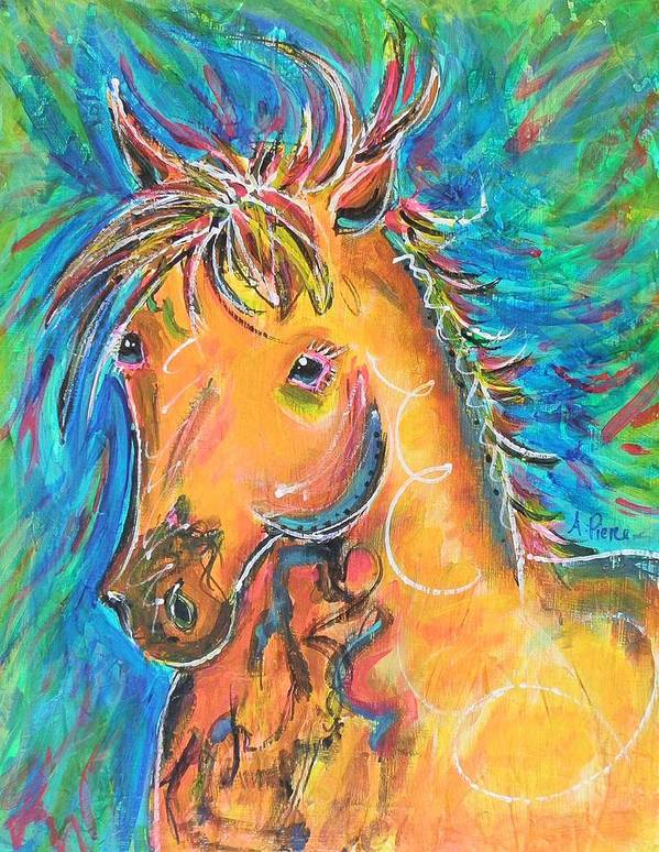 Horse Poster featuring the painting Dreamhorse by Amanda Pierce