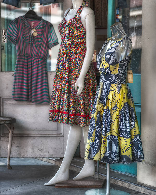 French Quarter Poster featuring the photograph Dresses For Sale by Brenda Bryant