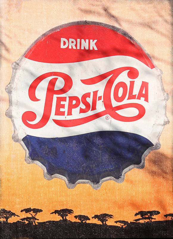 Pepsi Poster featuring the photograph Drink Pepsi by Donna Kennedy