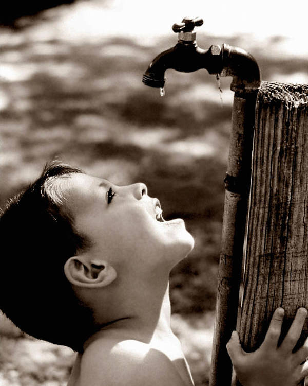 Child Poster featuring the photograph Drip by Trish Mistric