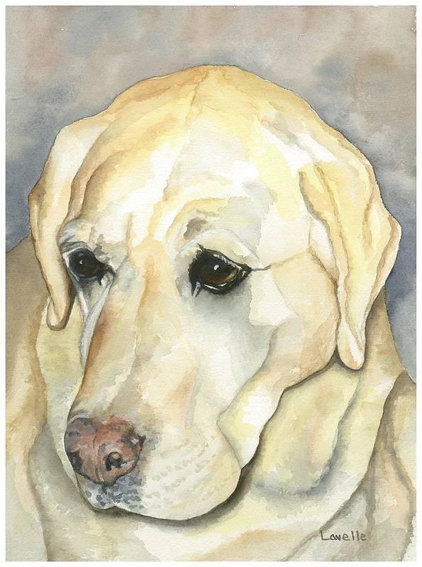 Dog Pictures Poster featuring the painting Duke by Kimberly Lavelle