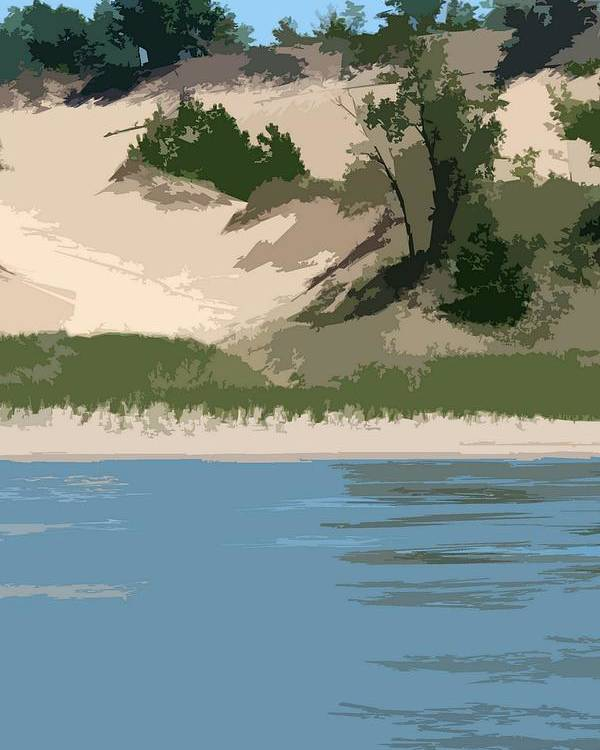 Dunes Poster featuring the photograph Dunes Of Lake Michigan by Michelle Calkins