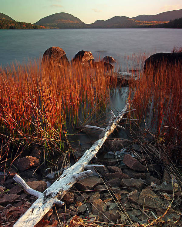 Autumn Poster featuring the photograph Eagle Lake At Autumn by Juergen Roth