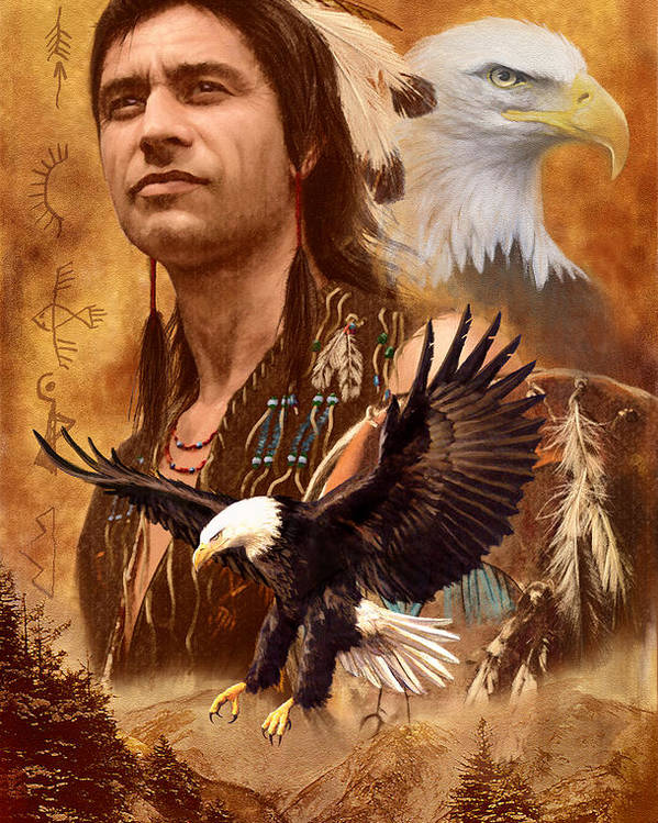 Adult Poster featuring the photograph Eagle Montage by Garry Walton