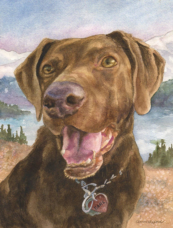 Dog Painting Poster featuring the painting Earl by Anne Gifford