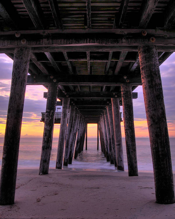Pier Poster featuring the photograph Early Light by Dan Myers