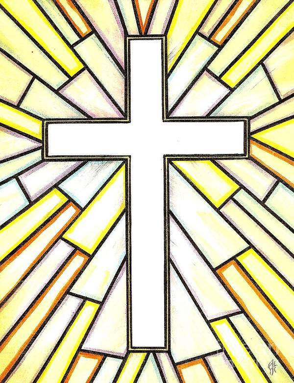 Cross Poster featuring the painting Easter Cross 3 by Jim Harris