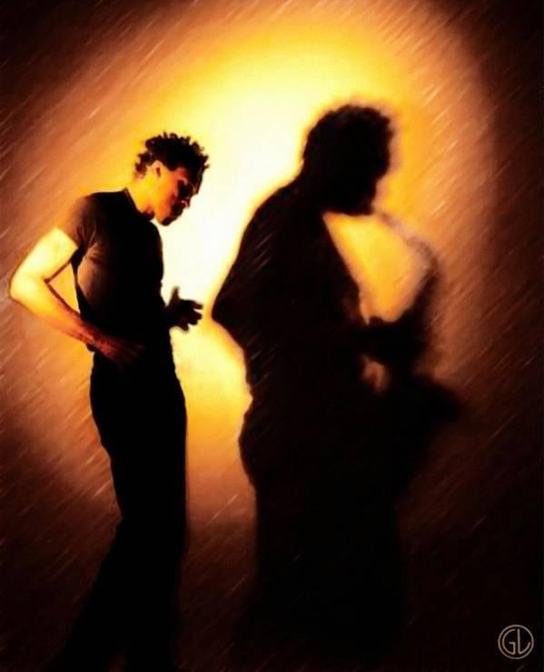Man Poster featuring the digital art Echo by Gun Legler