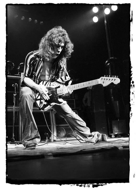 Eddie Van Halen Poster featuring the photograph Eddie Van Halen by Sue Arber