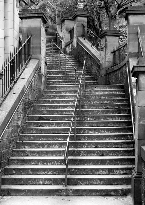 News Steps Poster featuring the photograph Edinburgh Steps by Liz Leyden