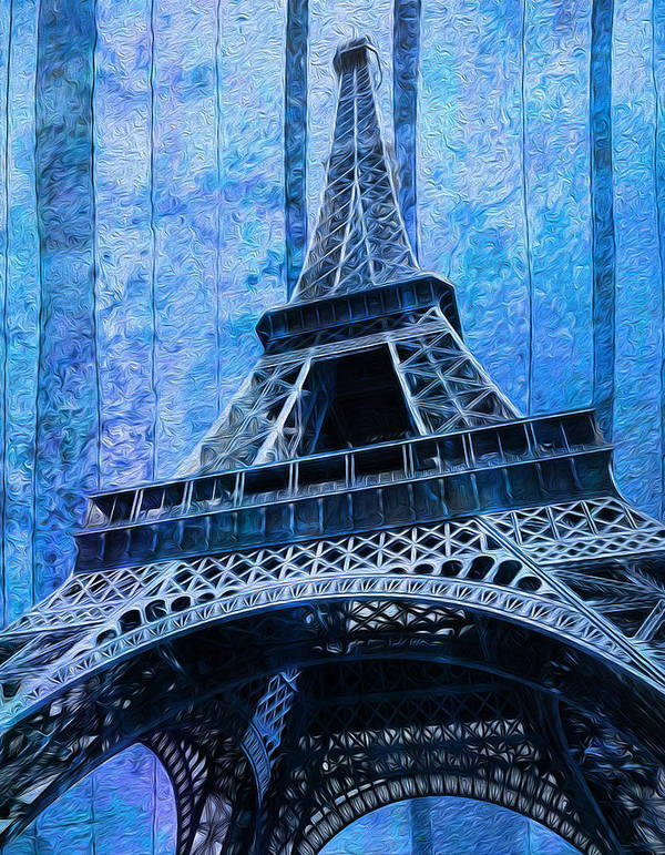 Eiffel Poster featuring the painting Eiffel Tower 2 by Jack Zulli