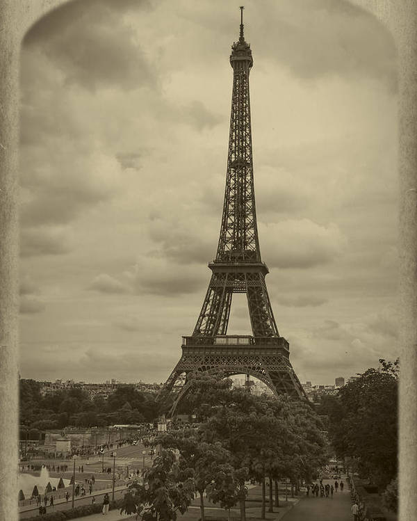Champs Poster featuring the photograph Eiffel Tower by Debra and Dave Vanderlaan