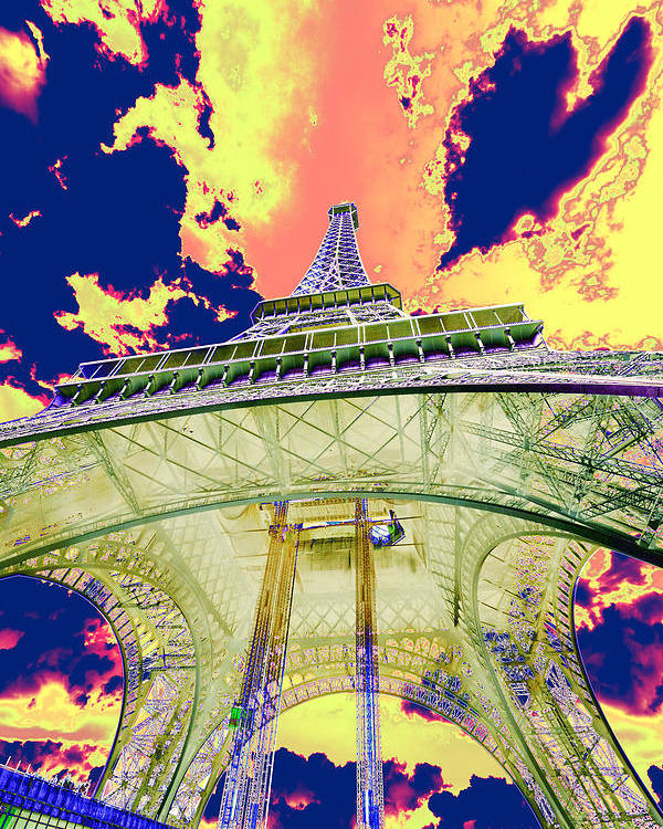 Cruise 2013 Poster featuring the photograph Eiffel Tower Psycho Version by Richard Henne