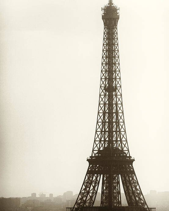 Eiffel Tower Silhouette Poster featuring the photograph Eiffel Tower Silhouette by John Rizzuto