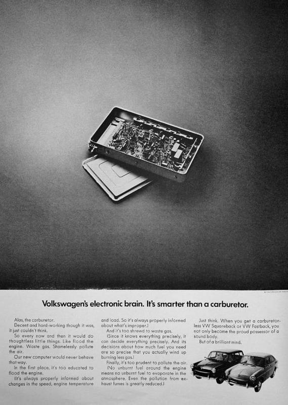 Volkswagen Poster featuring the photograph Electronic Brain by Benjamin Yeager
